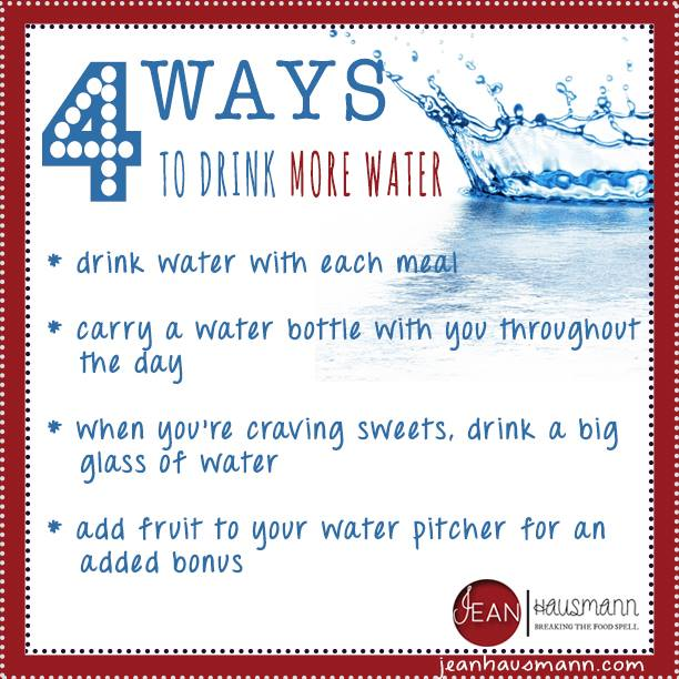jean hausmann four ways to drink more water infographic a day