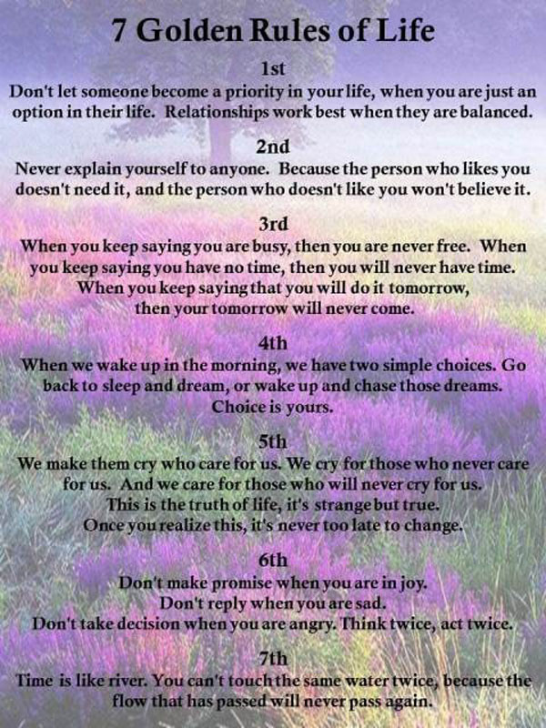 7 Rules Of Life Quote New Best 15 Rules Of Happy Living  Inspiring Quotes And Words In Life
