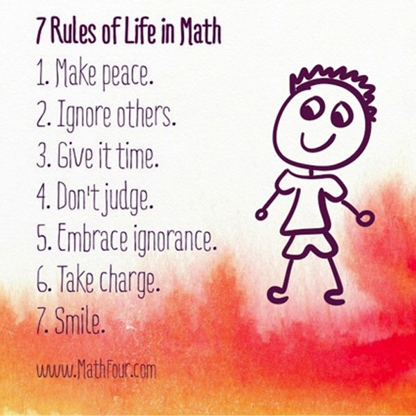 7 Rules Of Life Quote: 7 Rule Of Life In Math