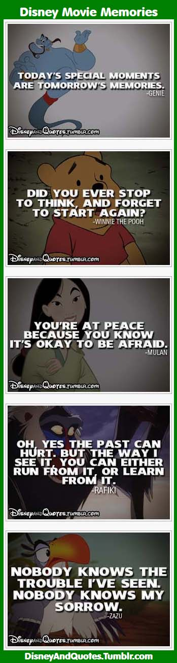 inspirational quotes disney movie memories infographic