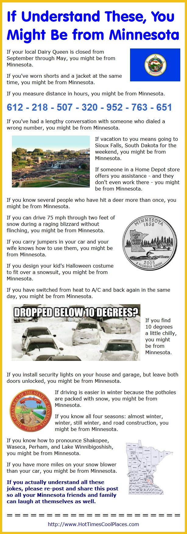 You Might Wanna Sit Down For This: You Might Be From Minnesota If ...