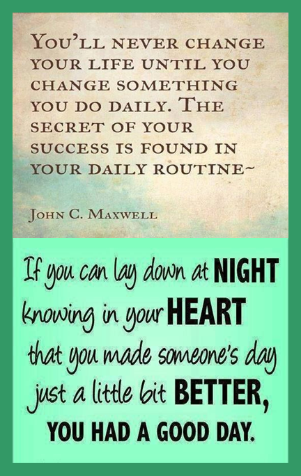 Life Changing Quote Just Have A Look Bookmark It: Motivational Bookmark: Your Daily Routine